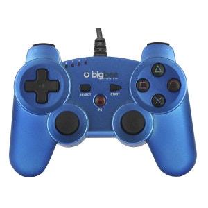 Mini manette filaire bleu  métallisé pour PS3 BIG BEN