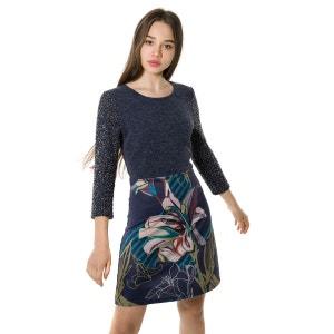Robe imprimée Juliana floral à manche 3/4. SMASH