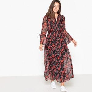 Langes Kleid mit Blumen-Print CASTALUNA