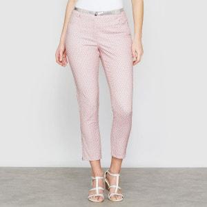 Pantalon 7/8ème imprimé, coton stretch ANNE WEYBURN