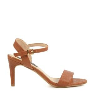 Sandales brunes à talon moyen SACHA