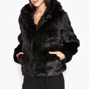 Abrigo corto con capucha de pelo sintético ELECTRO OAKWOOD