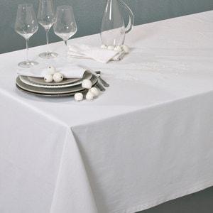 L Brodé Linen Blend Tablecloth with Openwork Trim La Redoute Interieurs