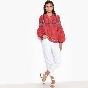 Effen blouse met ronde hals en lange mouwen PEPE JEANS