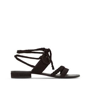 Sandalen, Bindeband am Knöchel, breiter Fuss, Gr. 38-45 CASTALUNA