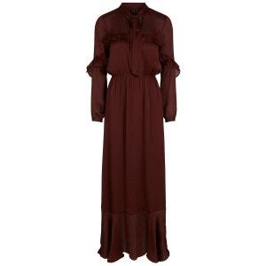 Robe longue féminine volants transparente YAS