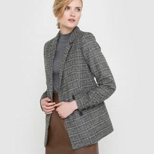 Chaqueta a cuadros, mezcla de lana La Redoute Collections