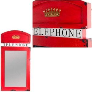 Miroir à suspendre Cabine téléphonique rétro UNITED LABELS