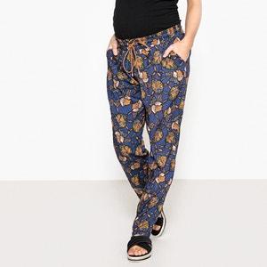 Pantalon de grossesse fluide imprimé floral La Redoute Collections