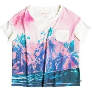 T-shirt imprimé palmiers devant 8-16 ans ROXY