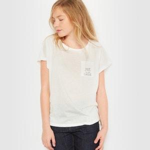 T-shirt ''Juste (un peu) curieuse'' 10-16 ans R essentiel
