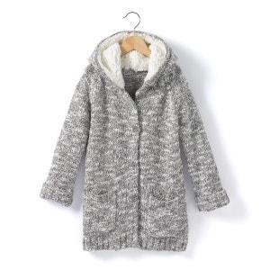 Gilet long chaud à capuche moutonnée 3-12 ans La Redoute Collections