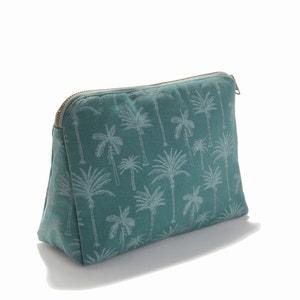 Cotton Desert Toilet Bag with Palm Tree Print