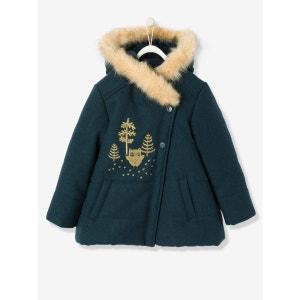 Manteau fille en drap de laine VERTBAUDET