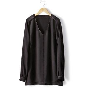 Long-Sleeved V-Neck Blouse R essentiel