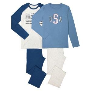 Pyjama coton 10-16 ans (lot de 2) La Redoute Collections