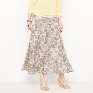 Printed Crinkle Voile Skirt ANNE WEYBURN