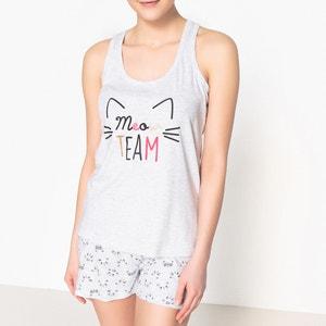 Pyjashort motif chat La Redoute Collections
