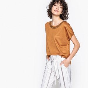 T-shirt ample, col rond brodé, manches courtes LPB WOMAN
