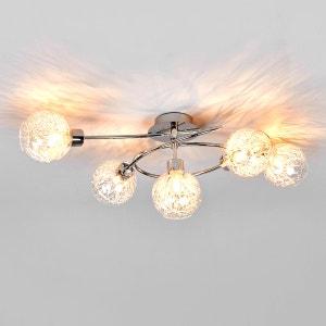 Paulina - plafonnier halogène à cinq lampes LAMPENWELT