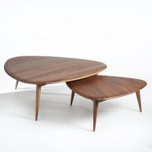 Table basse table basse relevable design la redoute - Table basse noyer massif ...