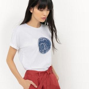 T-shirt com gola redonda, estampada R édition