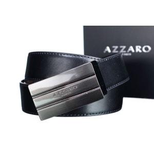 Ceinture reversible noir/marron AZZARO