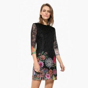 Korte jurk met 3/4 mouwen DESIGUAL