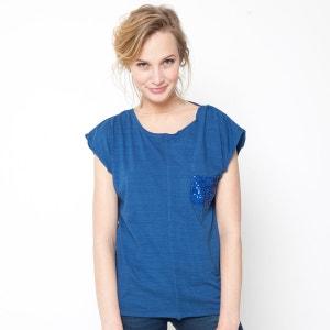 T-shirt de mangas curtas, sem costas LE TEMPS DES CERISES