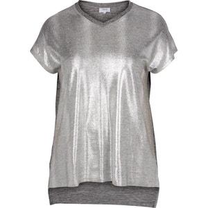Tee shirt col v uni, manches courtes ZIZZI