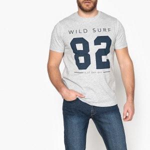 T-shirt col rond, motif imprimé, Oeko Tex CASTALUNA FOR MEN