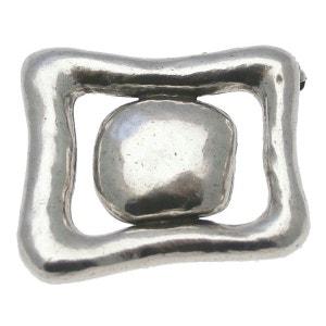 Broche en métal argenté de la collection OBLONG LILI LA PIE