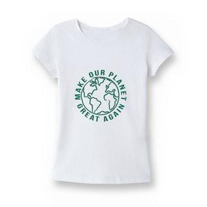 T-shirt com mensagem, algodão proveniente da agricultura biológica, 5-14 anos R essentiel