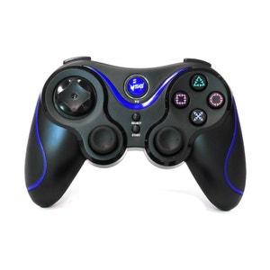 Hobbytech - manette de jeu sans fil pour Playstation 3 - Noire et bleue HOBBY TECH