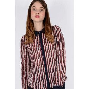 Geometric Striped Print Shirt MOLLY BRACKEN
