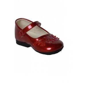 Chaussures pour Bébé Fille décor coloré rouge vernis DYMASTYLE