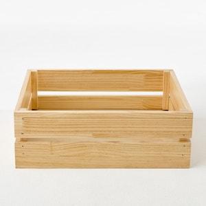 Boîte de rangement en pin abouté, Hiba La Redoute Interieurs