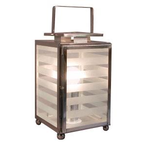 NICOBAR - Lampe à poser Verre & Chrome H35cm - Lampe à poser Aluminor designé par ALUMINOR