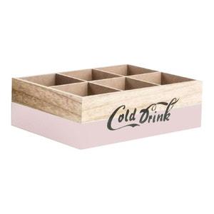 Range bouteille en bois brut old style rose UNITED LABELS