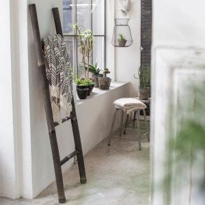 Echelle porte serviette de salle de bain en bambou noir TIKAMOON