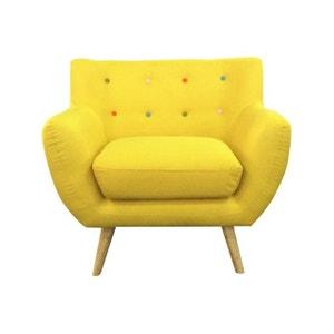 Fauteuil Jaune La Redoute - Fauteuil jaune solde