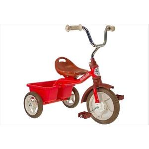 Tricycle métal rouge avec benne ITALTRIKE