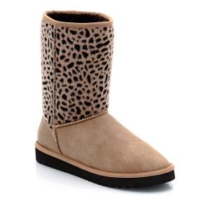 Botas Uma Boot modelo de enfiar, imitação leopardo ESPRIT