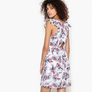 Figurbetontes Kleid, V-Ausschnitt, hinten überkreuzt SUNCOO