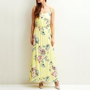 Geblümtes, langes Kleid. Rüschenträger VILA