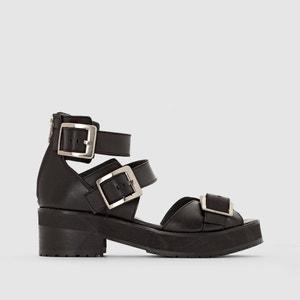 Sandalias de caña alta de piel con hebillas JONAK, Divy JONAK