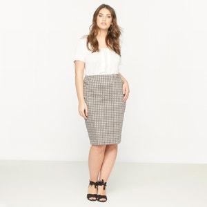 Stretch Pencil Skirt with Micro-Print CASTALUNA