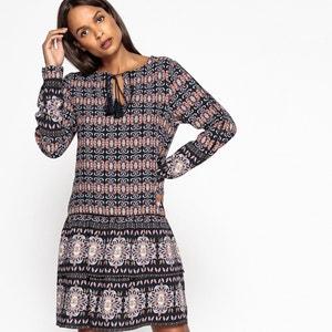 Mix Print Dress with Tassels & Ruffles VILA