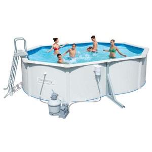 Piscine petite ou grande piscine gonflable hors sol en for Piscine acier grise