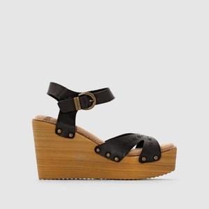 Sandálias multipresilhas, com tacão de cunha, CALEB COOLWAY